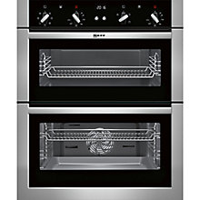 Buy Neff U17M42N5GB Built-Under Double Electric Oven, Stainless Steel Online at johnlewis.com