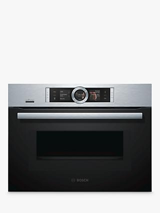 Bosch CMG656BS6B Built-In Single Oven with Home Connect, Brushed Steel