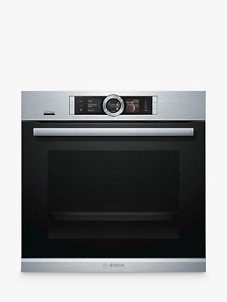 Bosch HRG6769S6B Built-In Single Oven with Home Connect, Brushed Steel