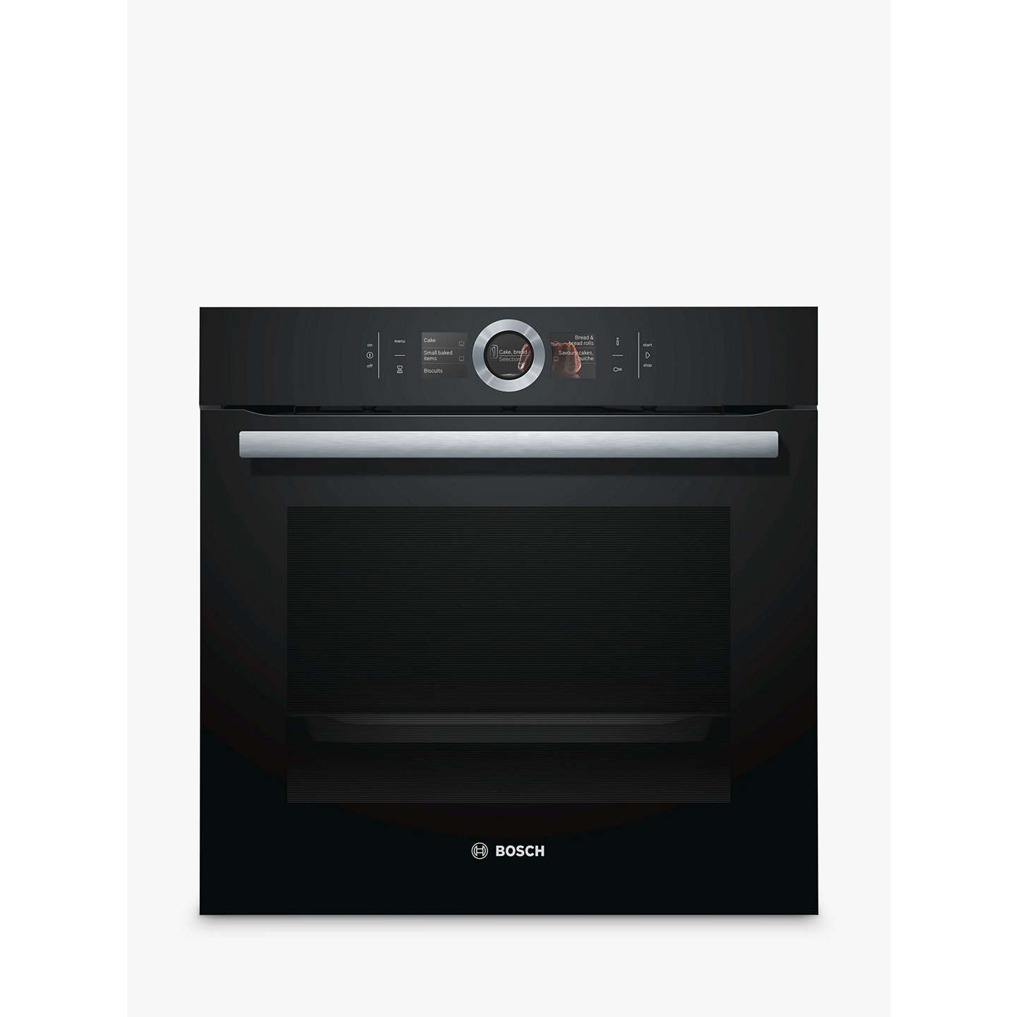 Bosch Hbg6764b6b Built In Single Oven With Home Connect Black Online At Johnlewis