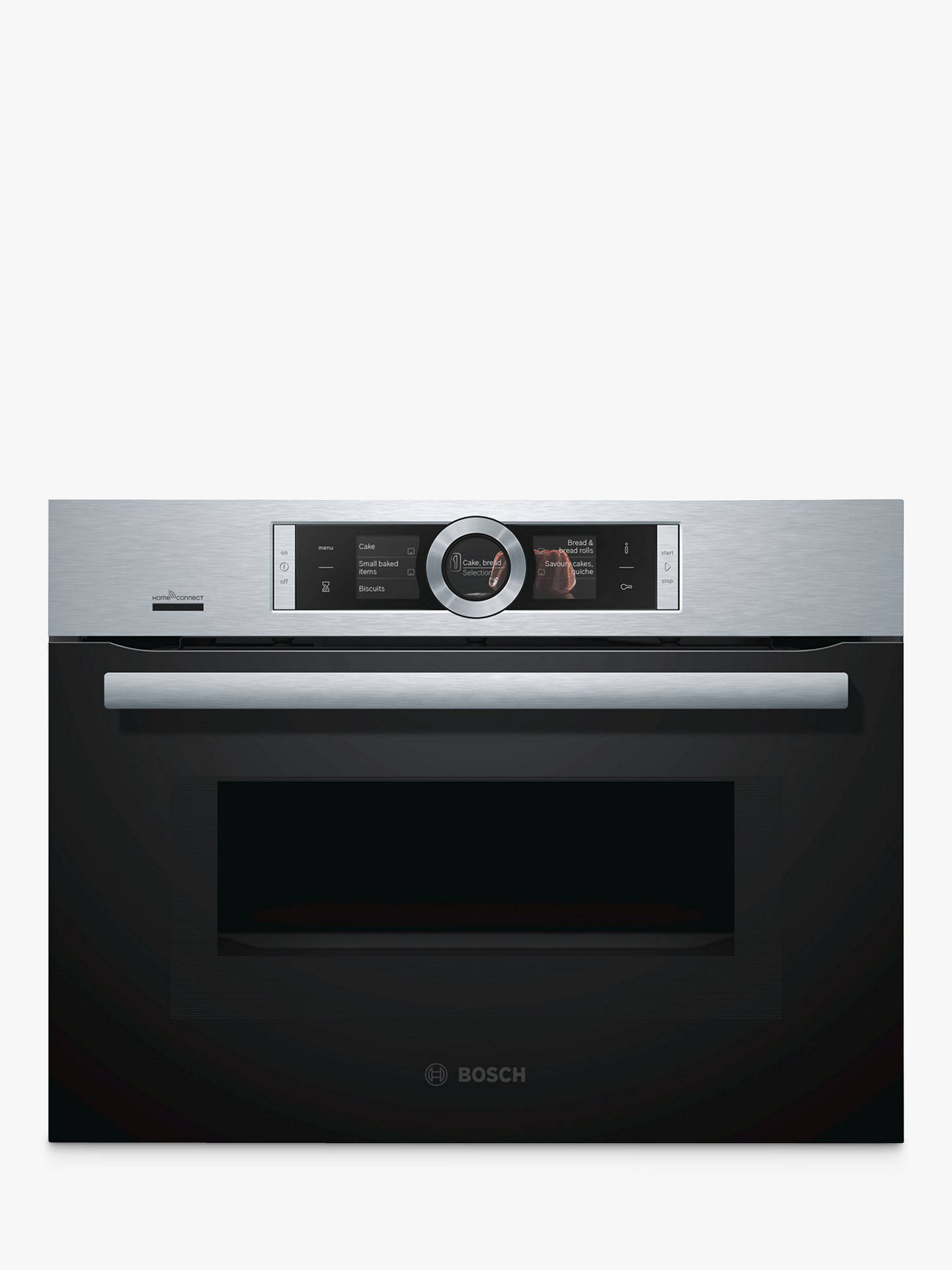 BuyBosch CMG676BS6B Built-In Combination Microwave Single Oven with Home Connect, Brushed Steel Online at johnlewis.com