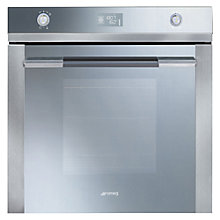 Buy Smeg SFP125E Built-In Single Electric Oven, Stainless Steel/Silver Glass Online at johnlewis.com