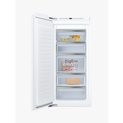 Image of Neff GI7413E30G 56cm Wide Tall Frost Free Integrated Upright In-Column Freezer - White