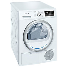 Buy Siemens WT45N200GB Condenser Tumble Dryer, 8kg Load, B Energy Rating, White Online at johnlewis.com