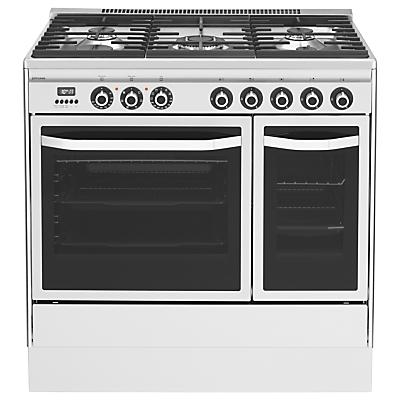john lewis jlrc921 dual fuel range cooker stainless steel. Black Bedroom Furniture Sets. Home Design Ideas