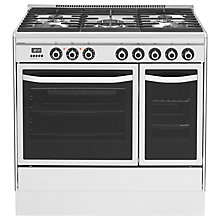 Buy John Lewis JLRC921  Dual Fuel Range Cooker, Stainless Steel Online at johnlewis.com