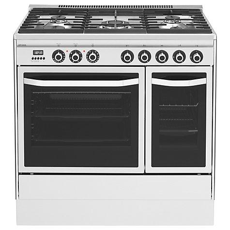 buy john lewis jlrc921 dual fuel range cooker stainless. Black Bedroom Furniture Sets. Home Design Ideas