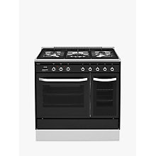 Buy John Lewis JLRC922 Dual Fuel Range Cooker, Black Online at johnlewis.com