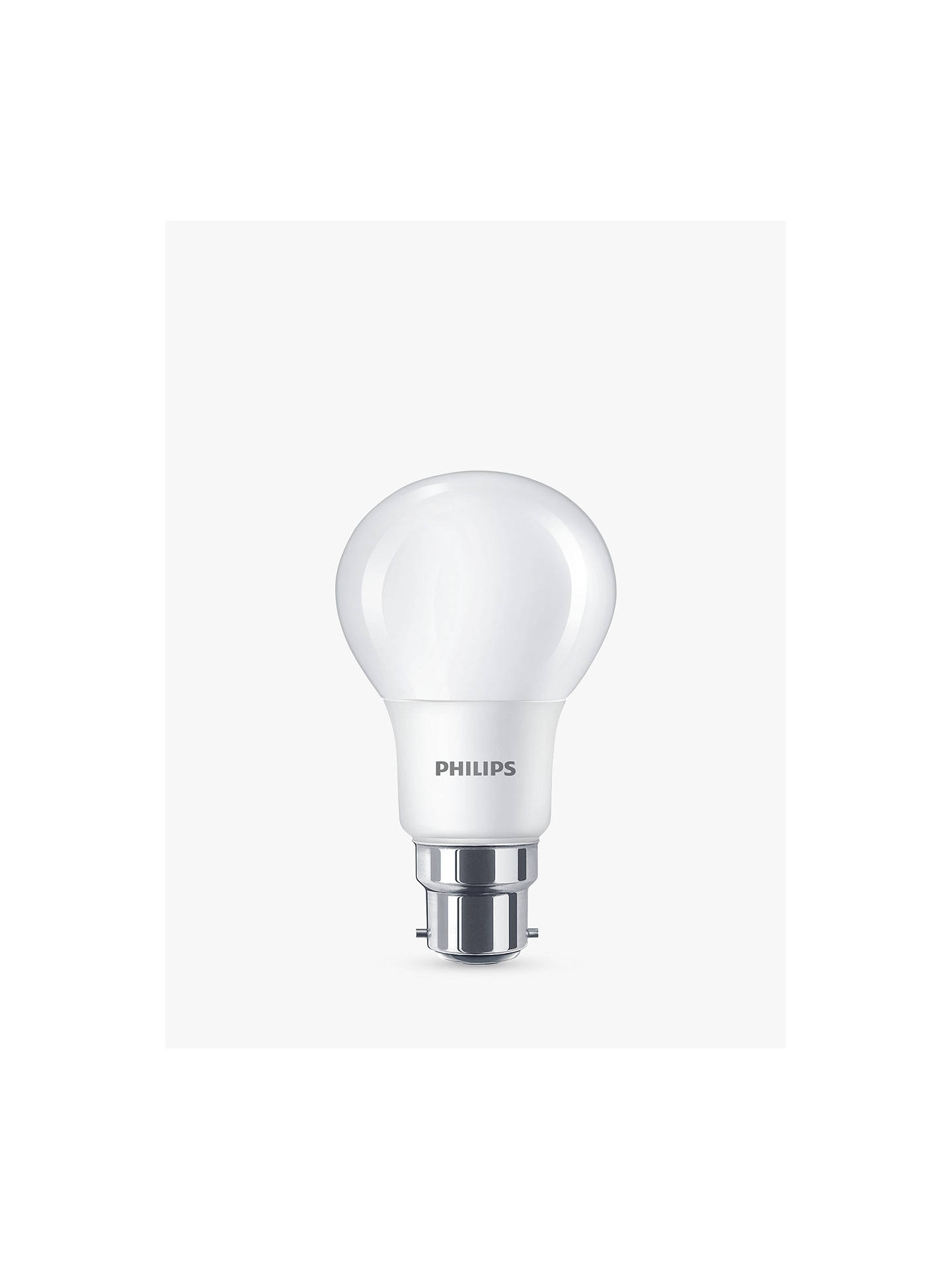 Buy Philips 7.5W BC LED Classic Cool White Light Bulb, Frosted, 4000K Online at johnlewis.com