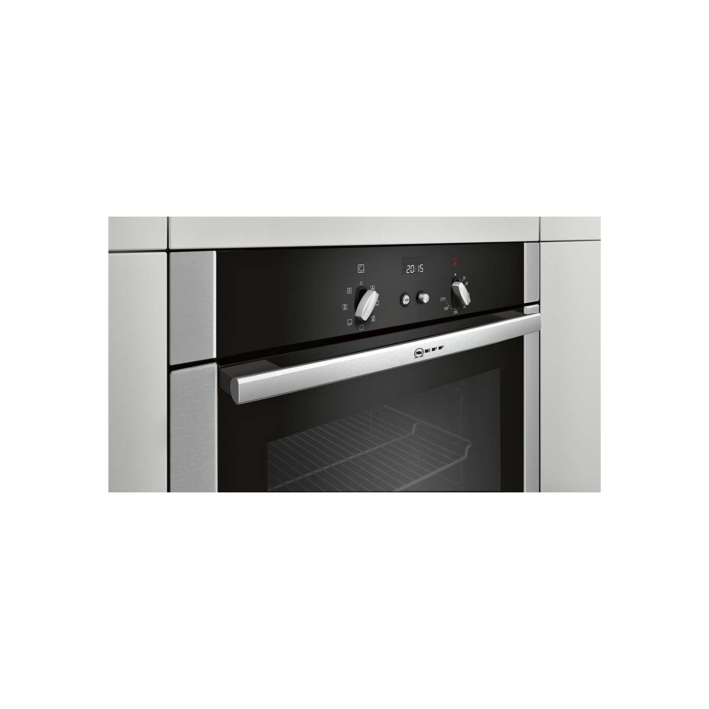 Neff B44S52N5GB Slide and Hide Single Oven, Stainless Steel at John ...