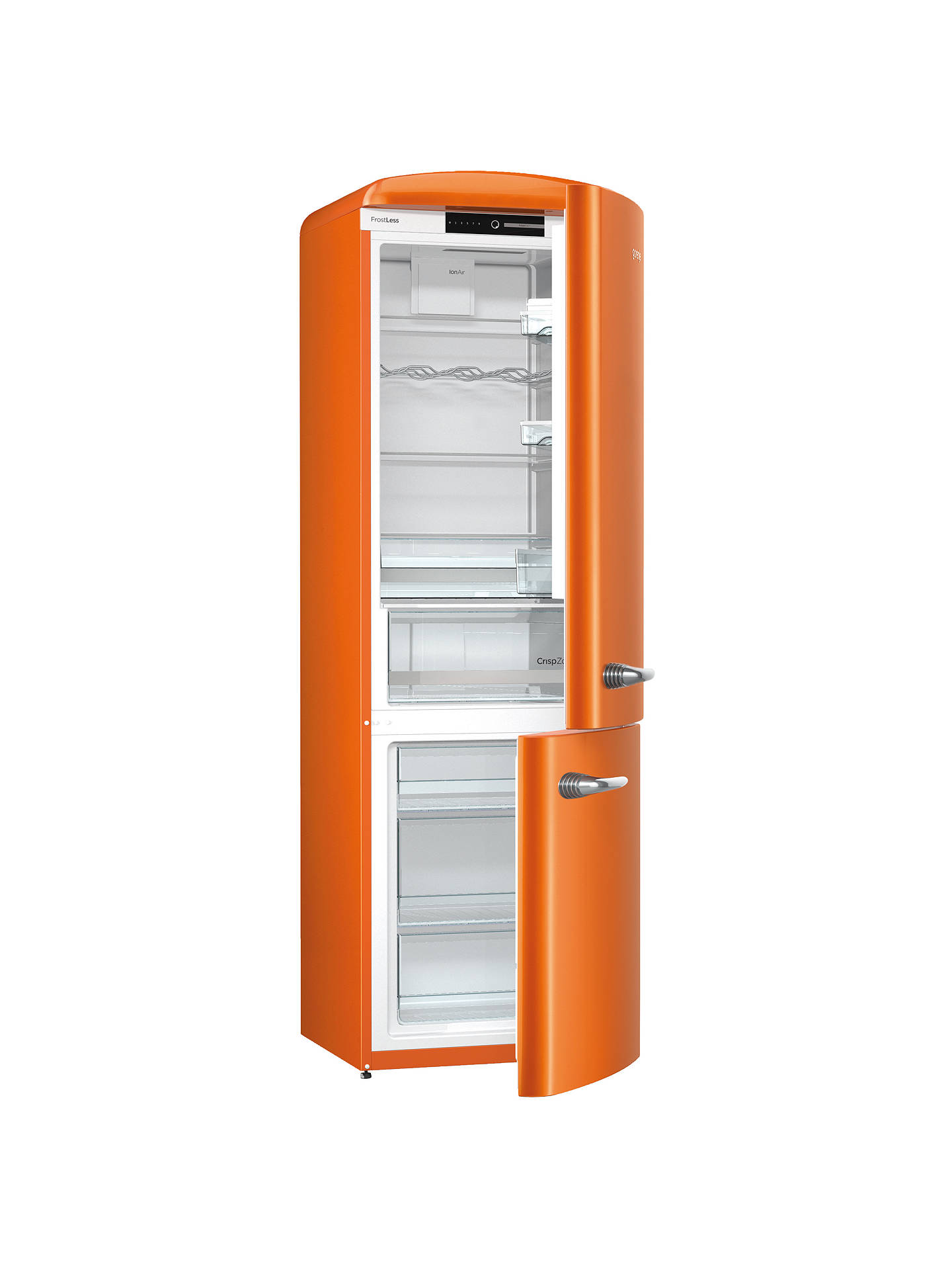 BuyGorenje ORK193O Freestanding Fridge Freezer, A+++ Energy Rating, Right-Hand Hinge, 60cm Wide, Juicy Orange Online at johnlewis.com