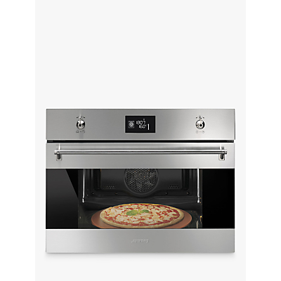Image of Smeg SFP4390XPZ Built-In Single Oven, Silver/Stainless Steel