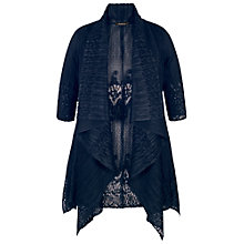 Buy Chesca Border Lace Crush Pleat Waterfall Shrug Online at johnlewis.com