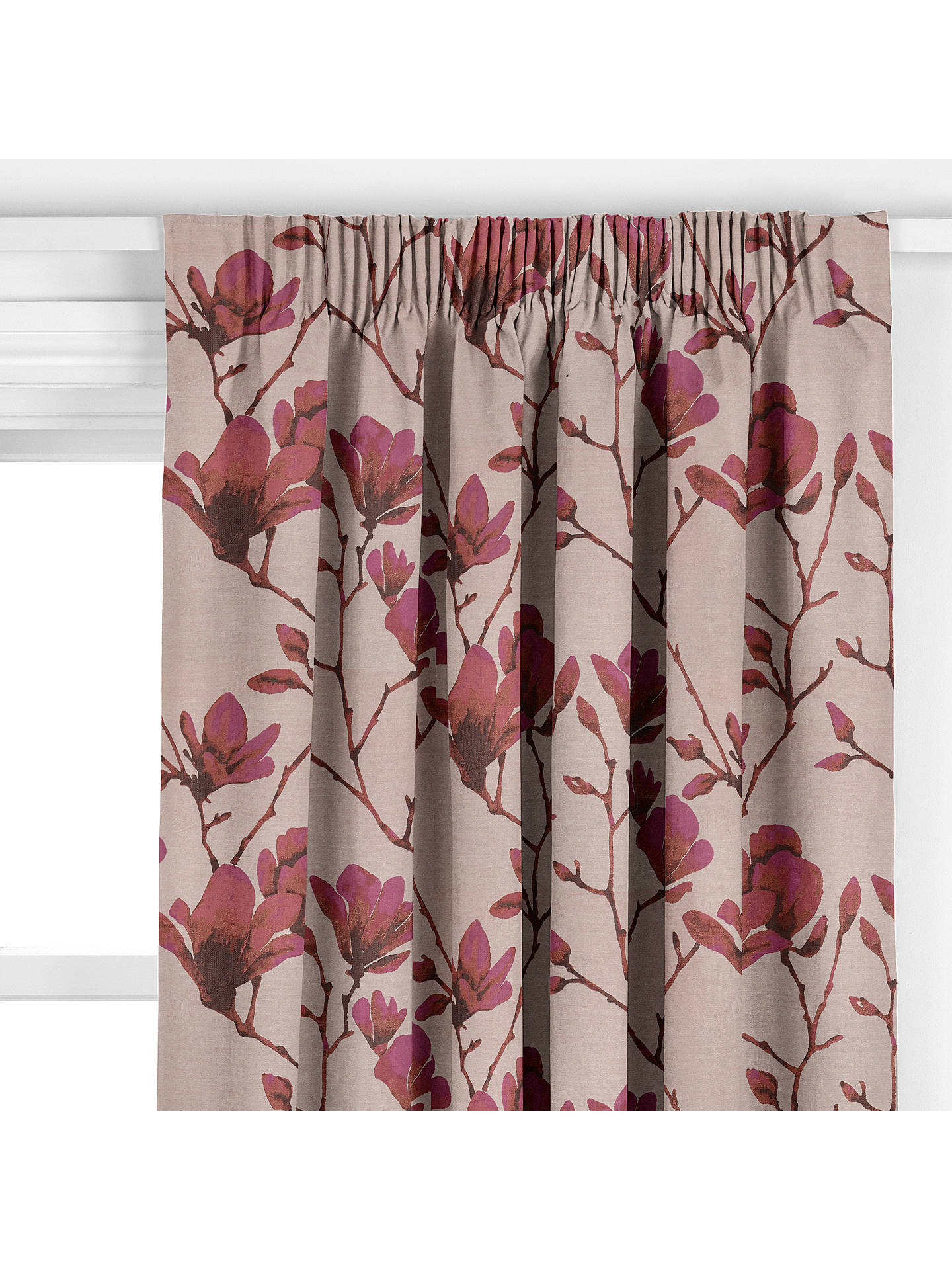BuyHarlequin Lotus Curtain Bronze Magenta Online At Johnlewis