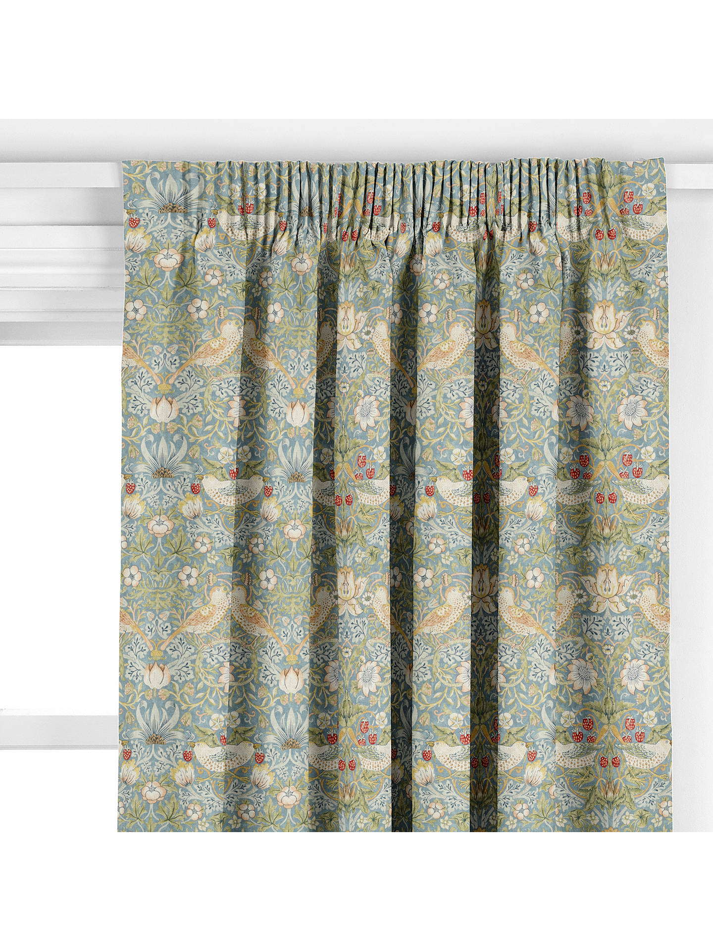 BuyMorris & Co. Strawberry Thief Curtain, Slate Online at johnlewis.com