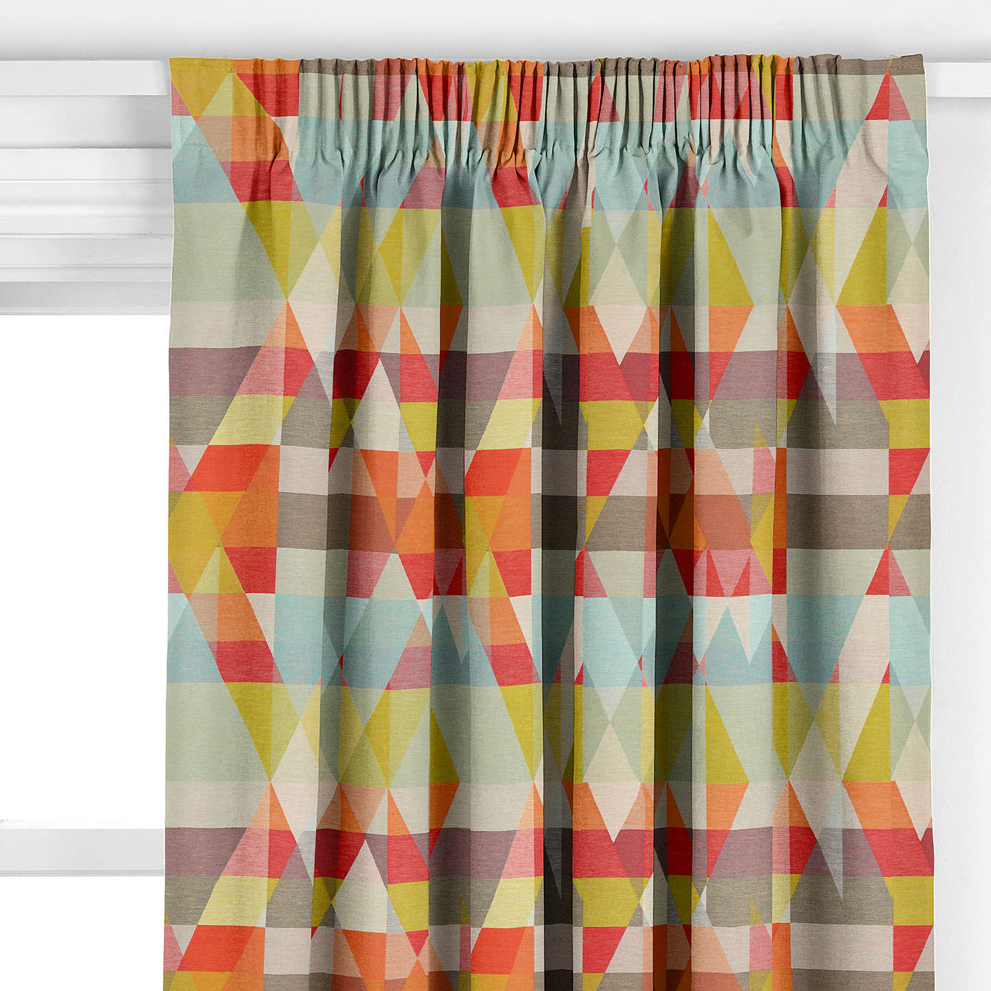 tangerine grammercy p faux window silk curtain curtains drapes pocket bordered top rod