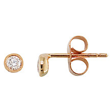 Buy London Road 9ct Rose Gold Portobello Diamond Raindrop Stud Earrings, Rose Gold Online at johnlewis.com