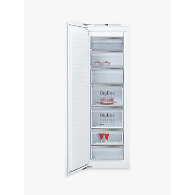 Image of Neff GI7813E30G 56cm Wide Tall Frost Free Integrated Upright In-Column Freezer - White