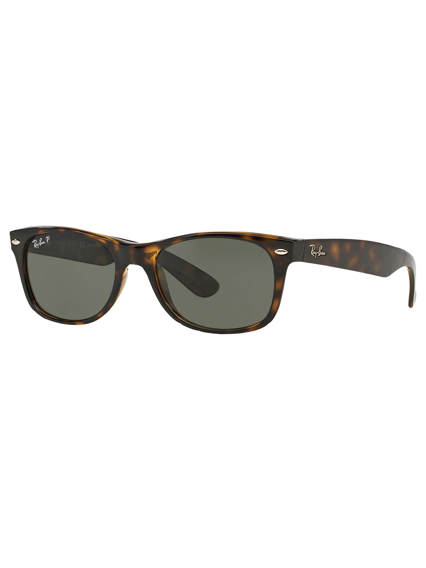 BuyRay-Ban RB2132 Unisex New Wayfarer Polarised Sunglasses, Tortoise Online at johnlewis.com