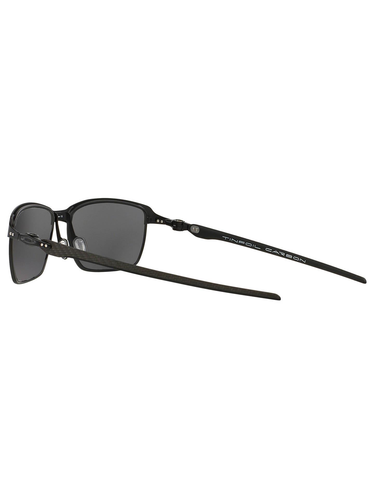 ba71b09a02369 ... Buy Oakley OO6018 Tinfoil Carbon Polarised Rectangular Sunglasses