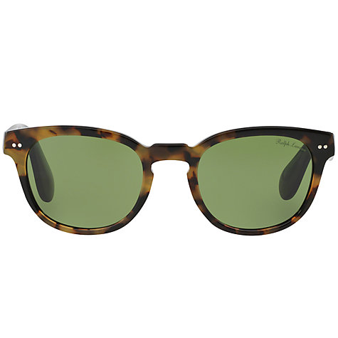 Buy Ralph Lauren RL8130 Oval Sunglasses, Dark Havana Online at johnlewis.com