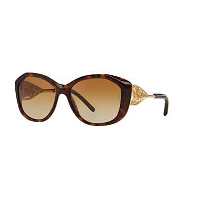 Burberry BE4208 Polarised Gradient Cat's Eye Sunglasses, Tortoise