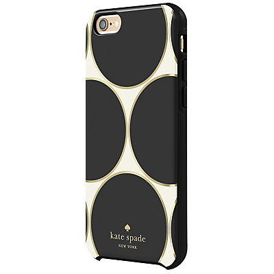 kate spade new york Hybrid Hardshell Case for iPhone 6/6s, Deborah Dot Cream/Black/Gold Foil