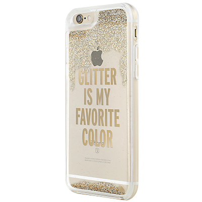 Image of kate spade new york Clear Liquid Glitter Case for iPhone 6/6s, Gold