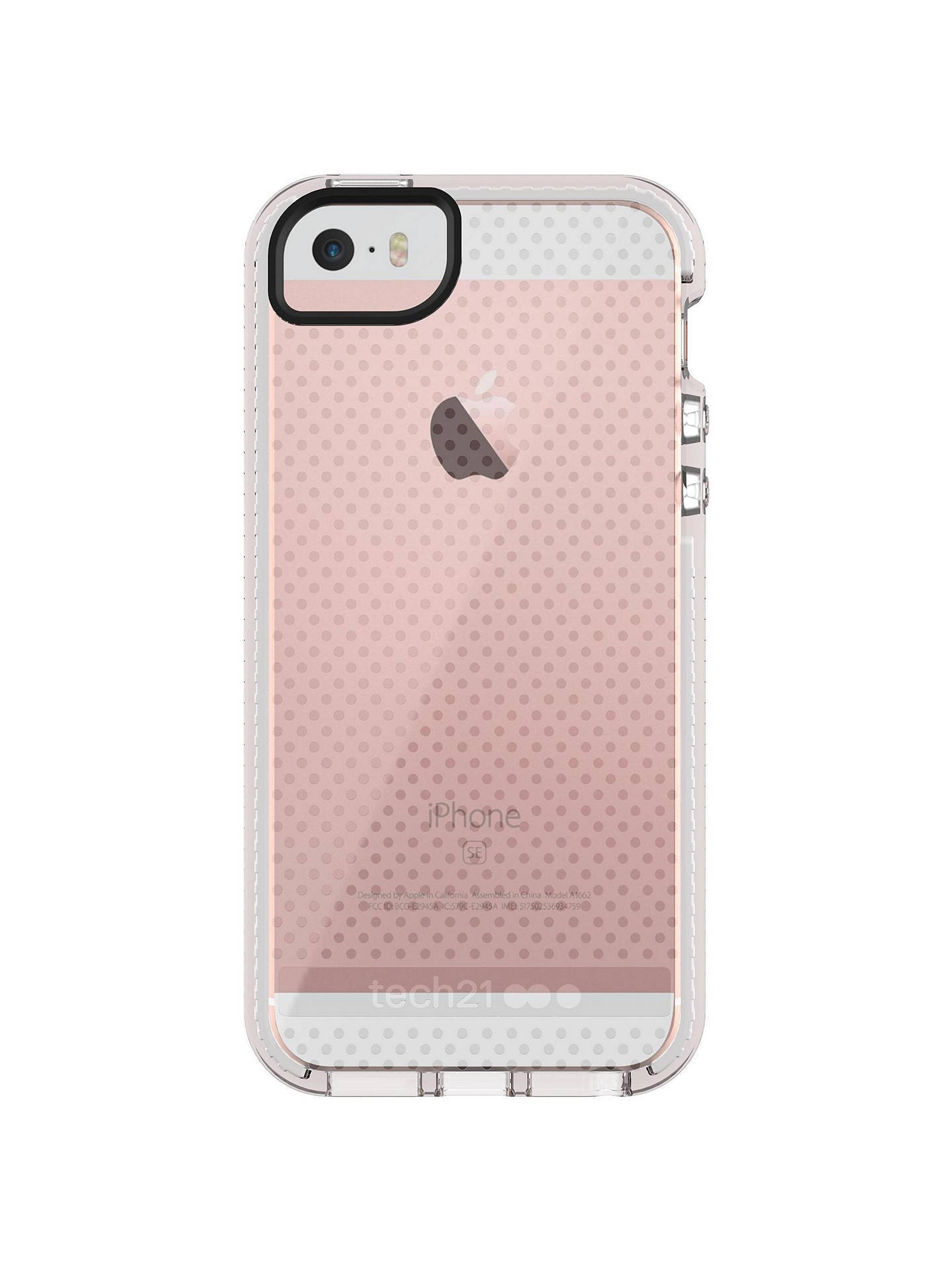 tech21 Evo Mesh Case for Apple iPhone 5/5s/SE, Clear White ...
