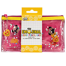Buy Emojinal Liquid Pencil Case, Pink Online at johnlewis.com