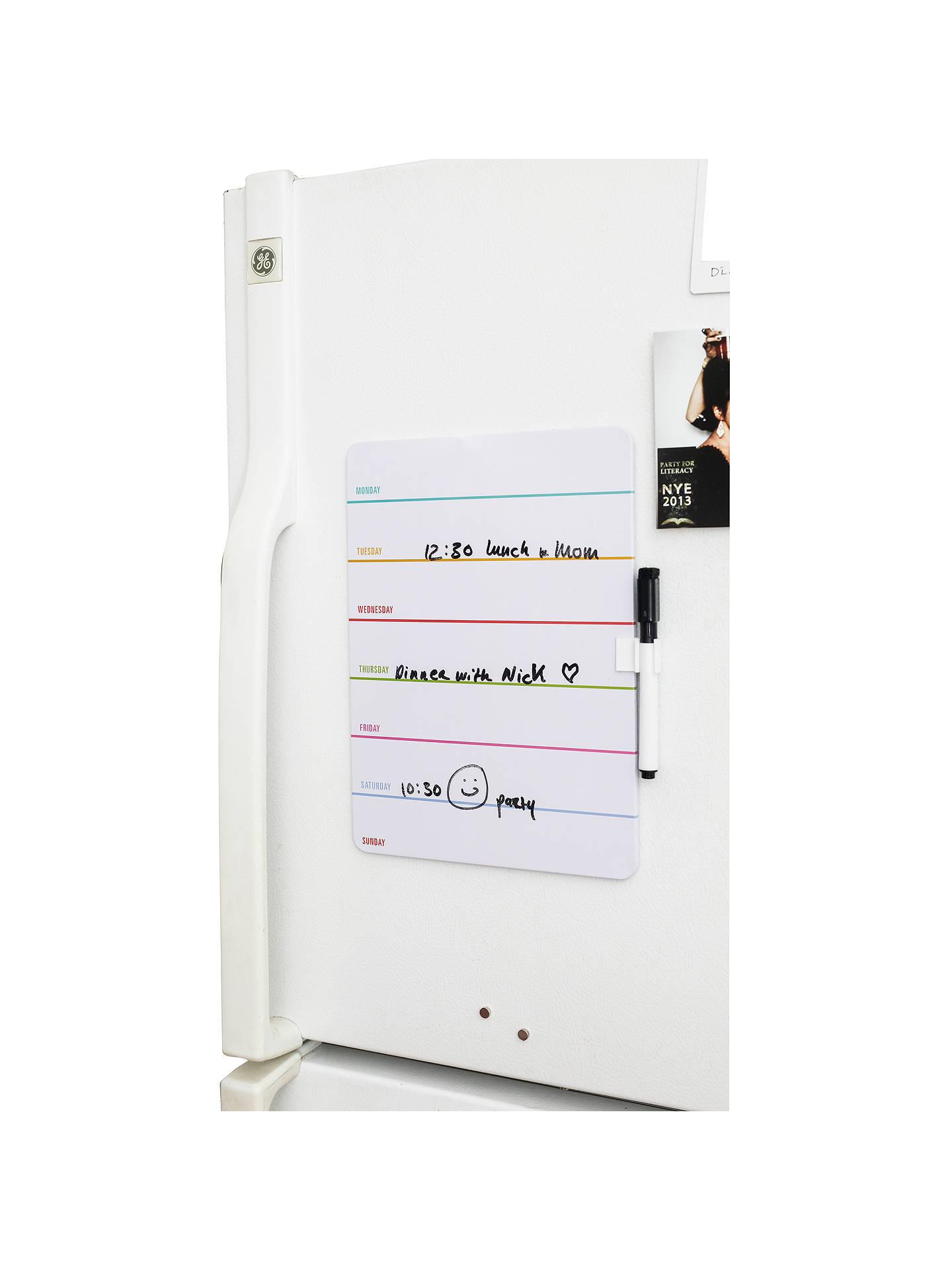 Kikkerland Magnetic Dry Erase Weekly Board
