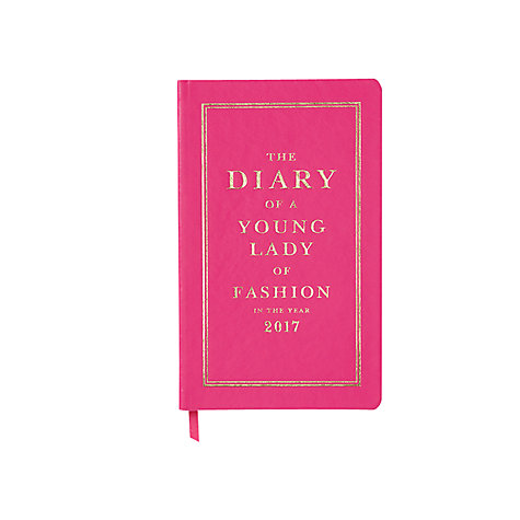 Buy kate spade new york 12-Month 2017 Diary, Pink Online at johnlewis.com