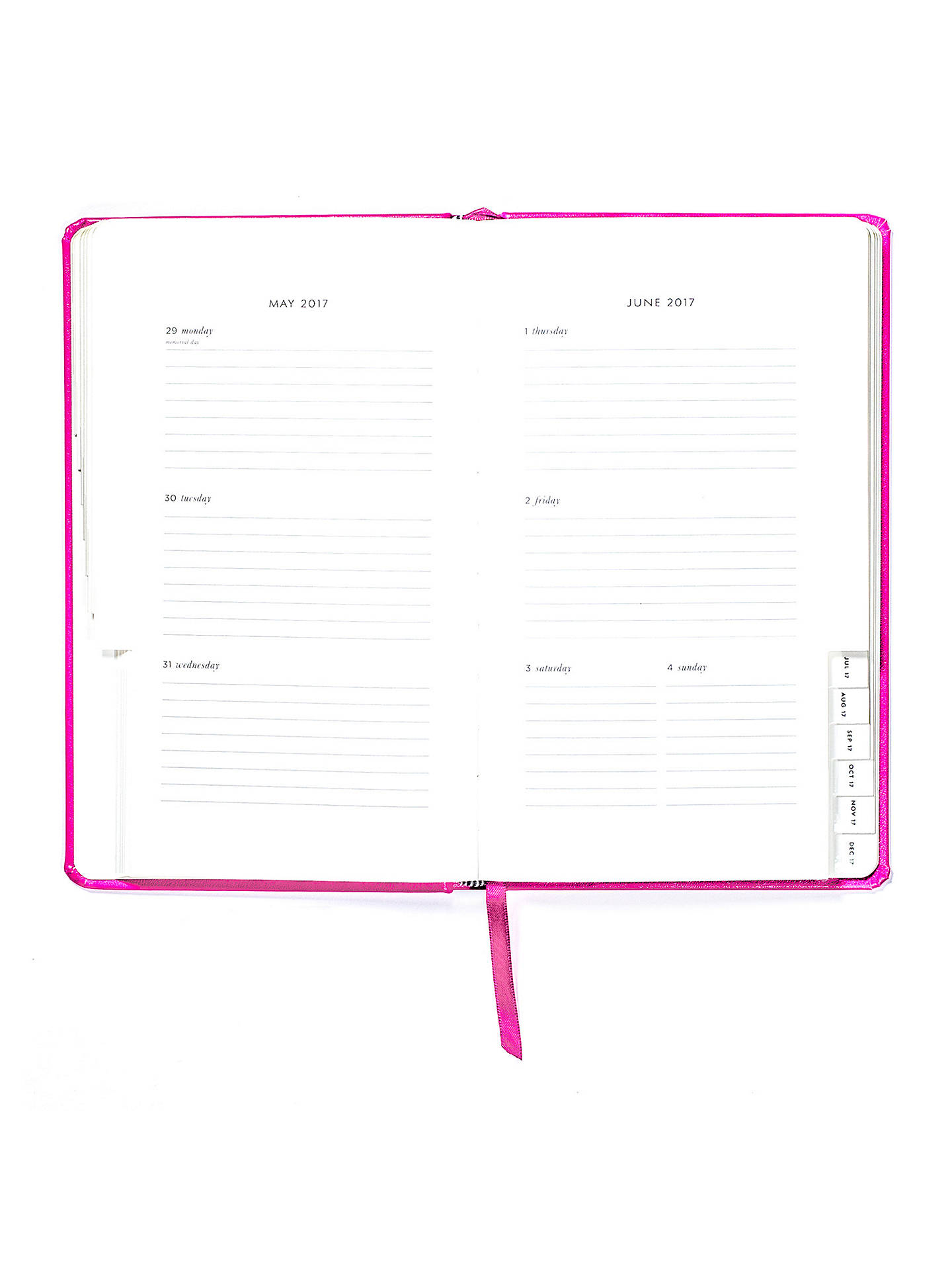 Buykate spade new york 12-Month 2017 Diary, Pink Online at johnlewis.com