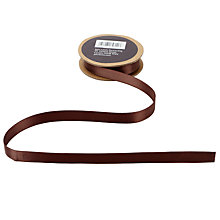 Buy John Lewis Double Satin Ribbon, 5m, Cocoa Brown Online at johnlewis.com