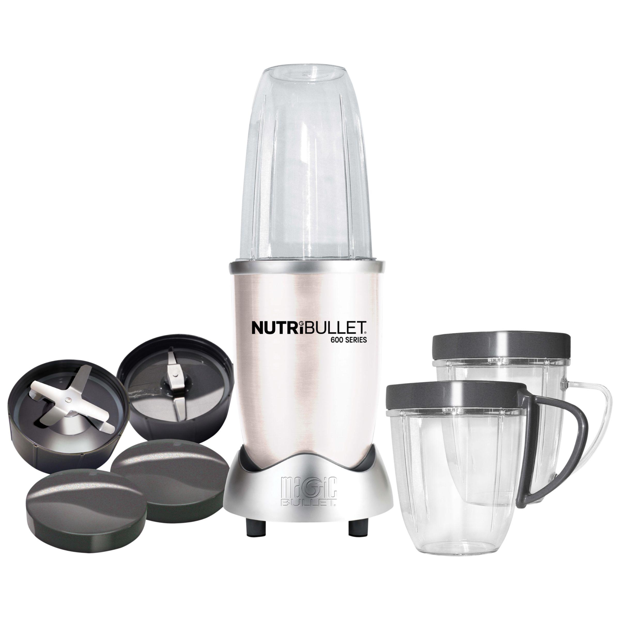 NutriBullet 12 Piece 600 Series Juicer Blender, White at