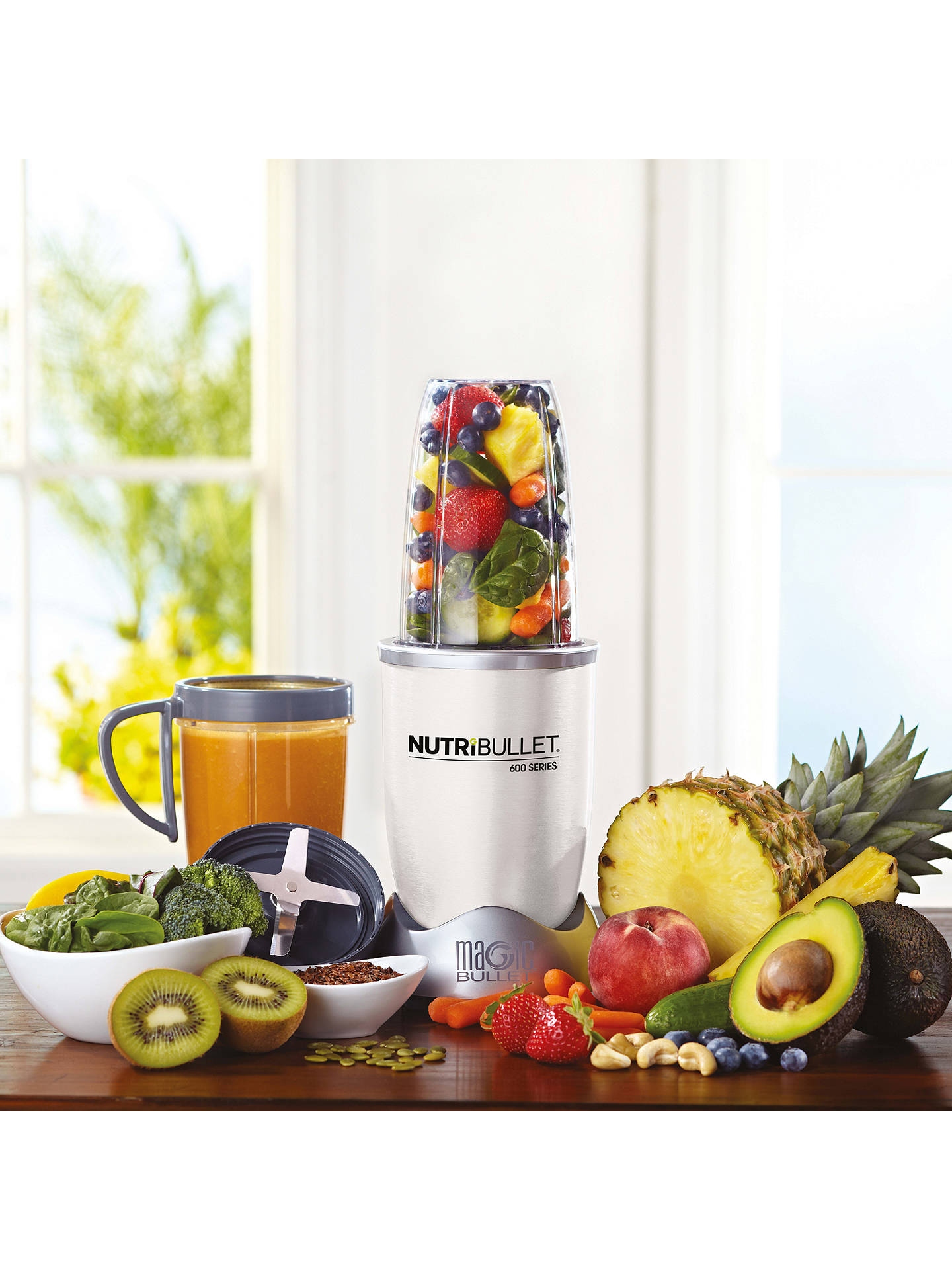 BuyNutriBullet 12 Piece 600 Series Juicer Blender, White Online at johnlewis.com