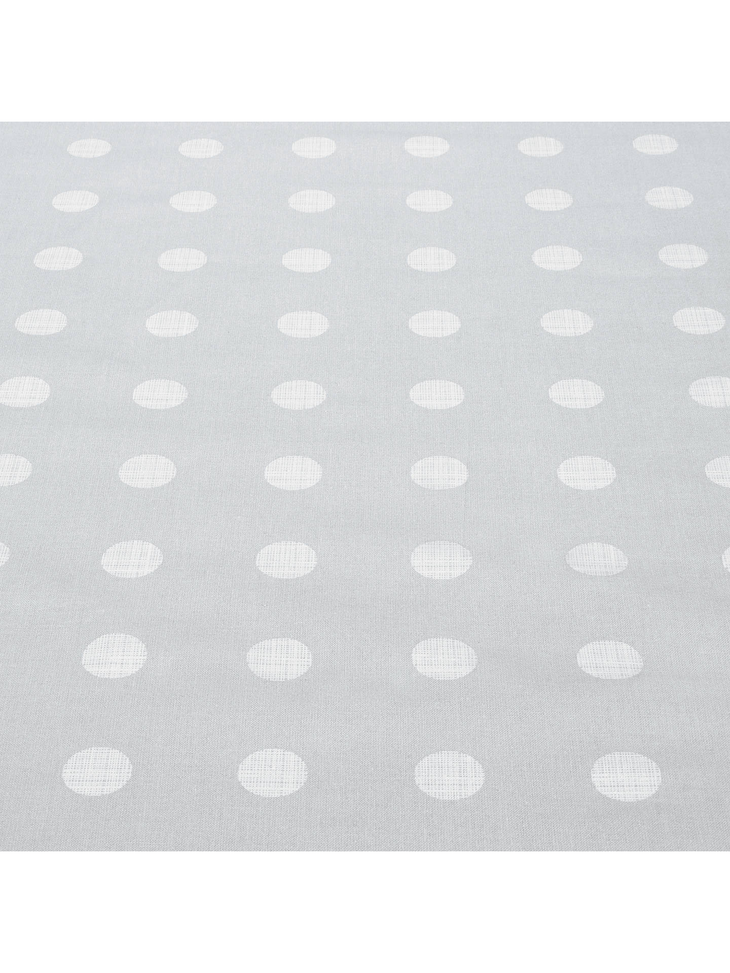BuyHouse by John Lewis Dots PVC Tablecloth Fabric, Blue Grey Online at johnlewis.com