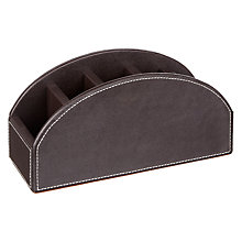Buy John Lewis PU Desk Tidy, Brown Online at johnlewis.com