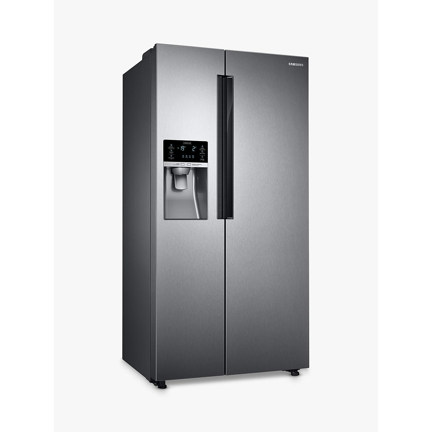 samsung american fridge freezer. buy samsung rs58k6387sl american style fridge freezer, a+ energy rating, 90cm width, silver freezer