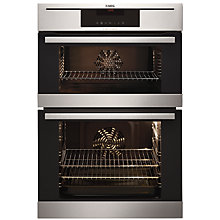 Buy AEG DC7013021M Built-In Double Electric Oven, Stainless Steel Online at johnlewis.com