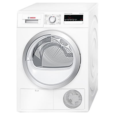 Image of Bosch WTH85200GB Heat Pump Condenser Tumble Dryer, 8kg Load, A++ Energy Rating, White