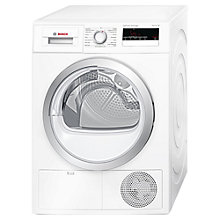 Buy Bosch WTH85200GB Heat Pump Condenser Tumble Dryer, 8kg Load, A++ Energy Rating, White Online at johnlewis.com