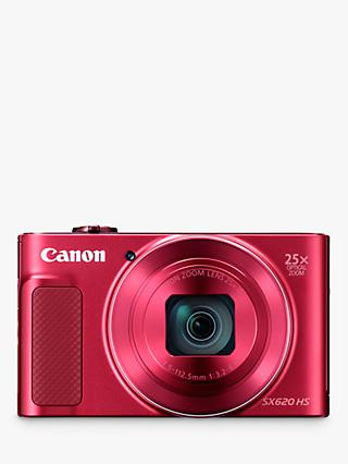 "Canon PowerShot SX620 Digital Camera, HD 1080p, 20.2MP, 25x Optical Zoom, Wi-Fi, NFC, 3"" Screen"
