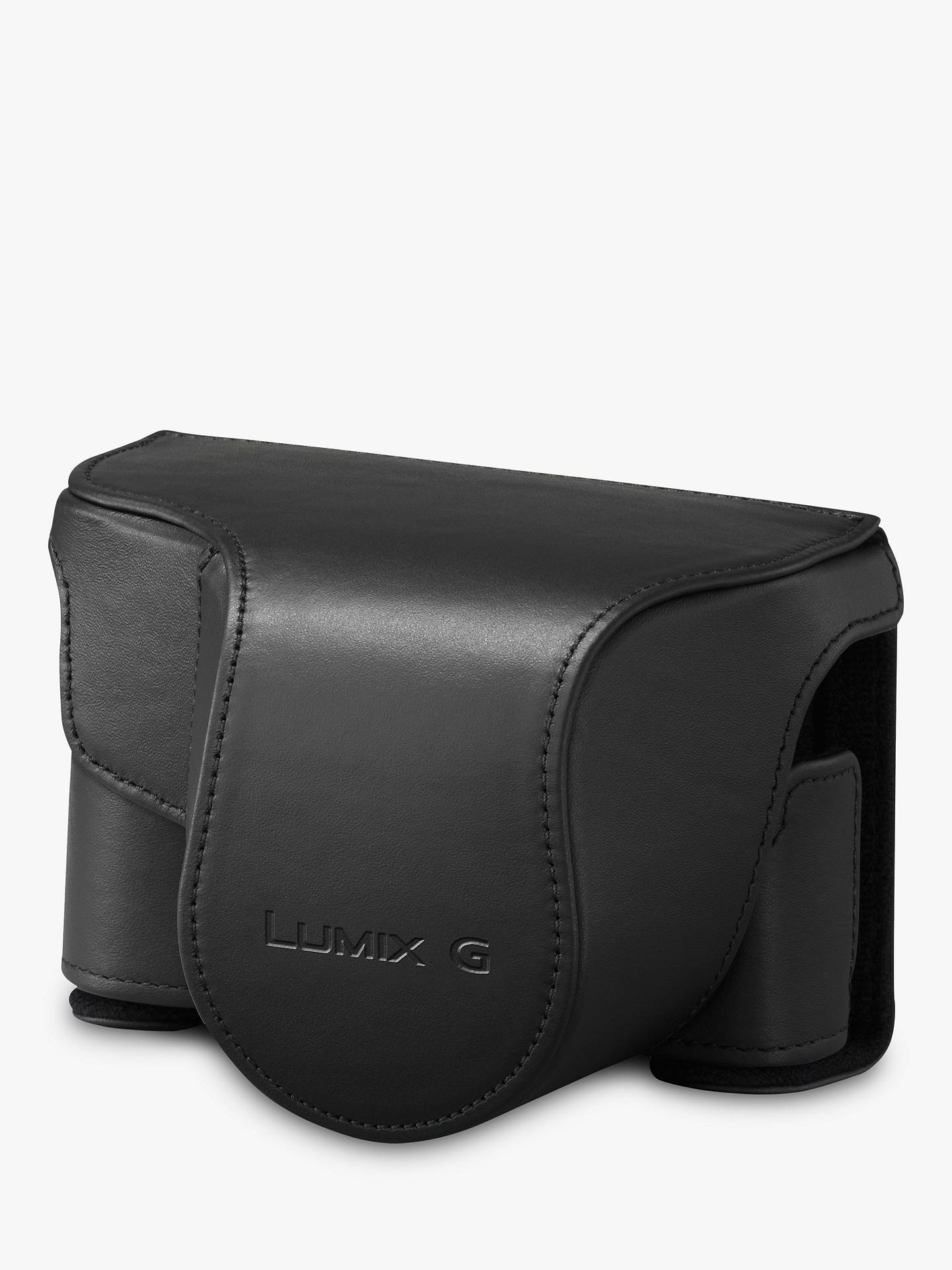 BuyPanasonic GX80 Leather Camera Case, Black Online at johnlewis.com
