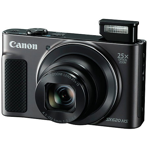 "Buy Canon PowerShot SX620 Digital Camera, HD 1080p, 20.2MP, 25x Optical Zoom, Wi-Fi, NFC, 3"" Screen Online at johnlewis.com"