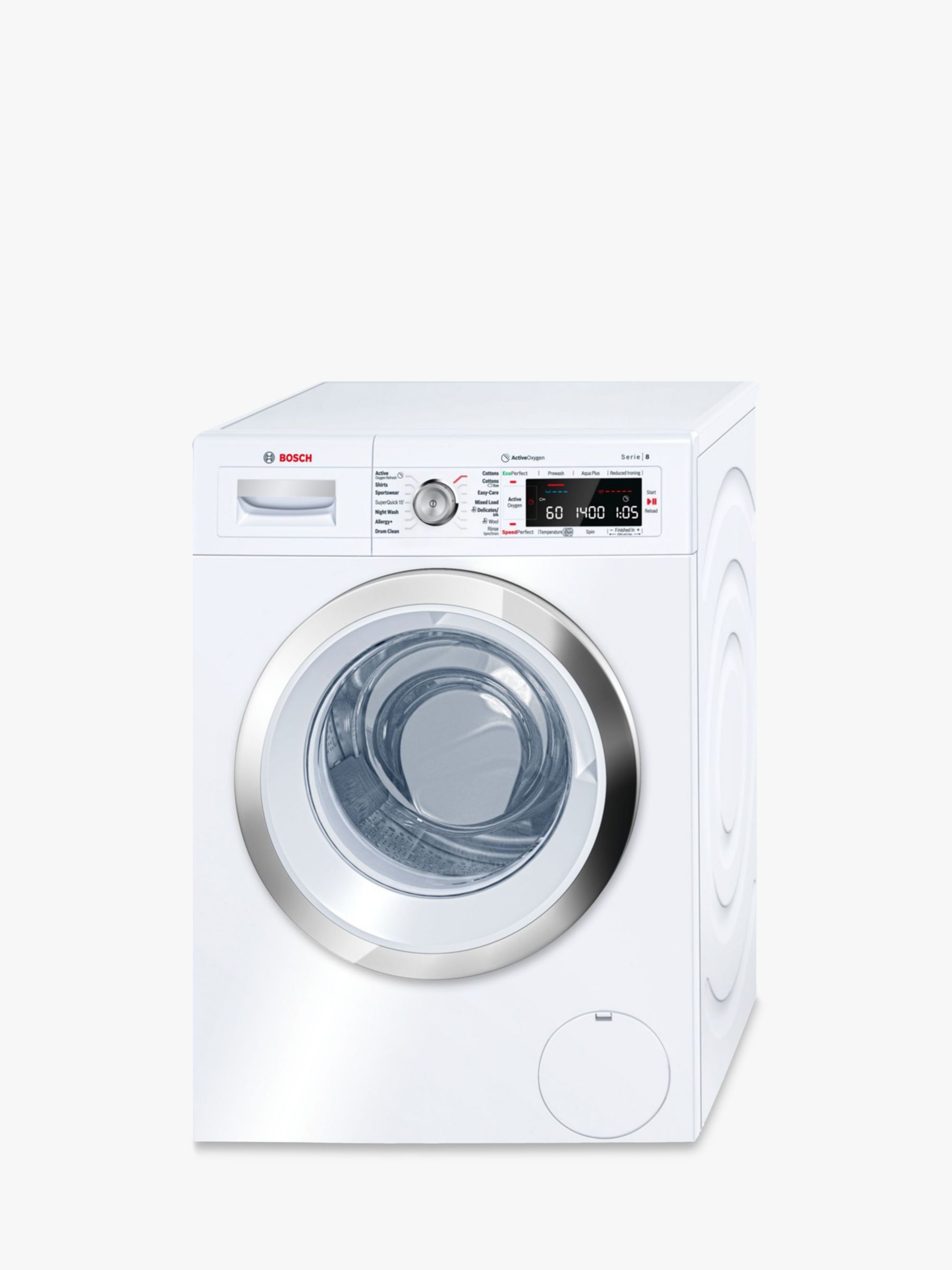 Bosch Bosch WAW28750GB Freestanding Washing Machine, 9kg Load, A+++ Energy Rating, 1400rpm Spin, White