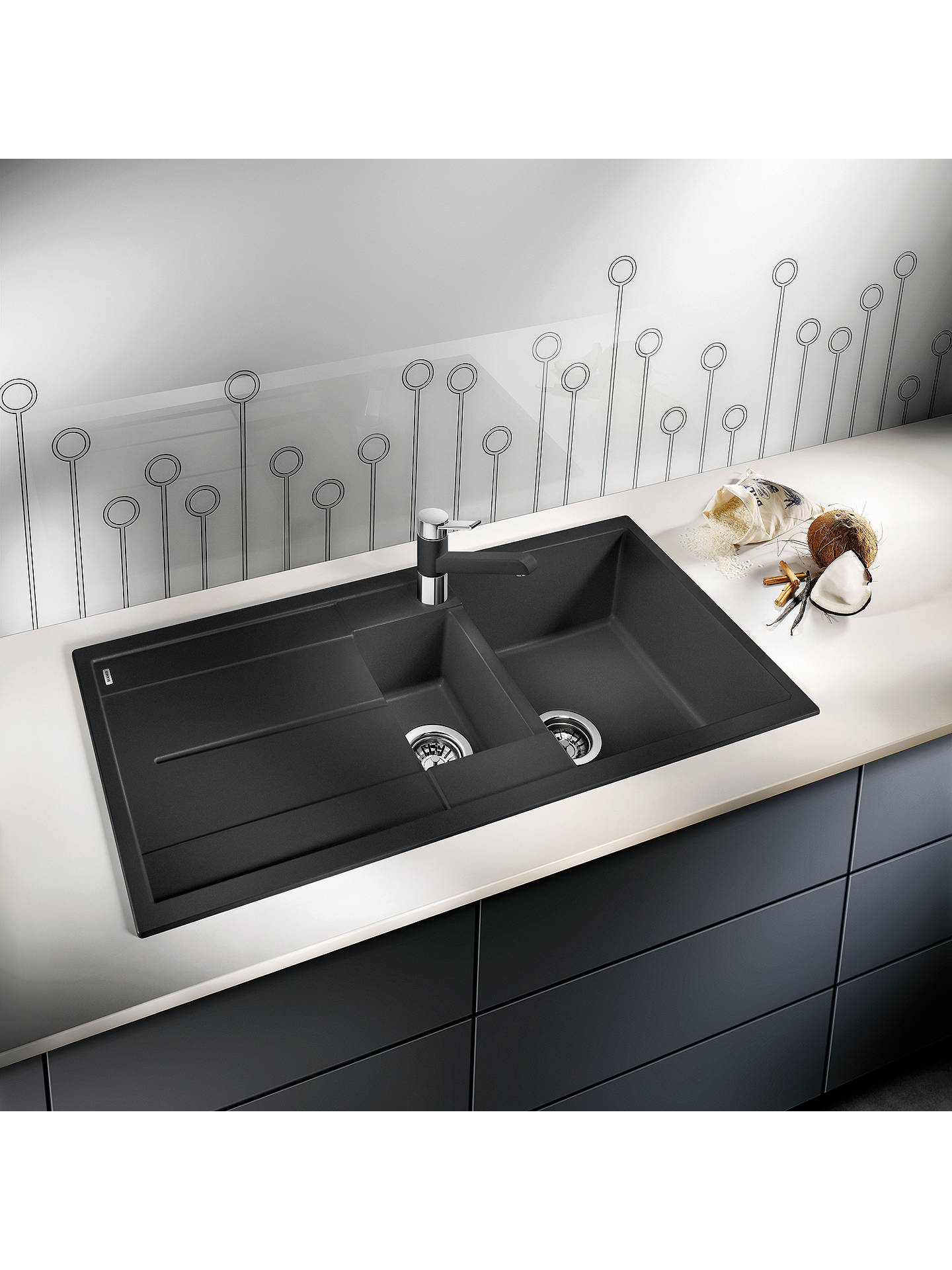 Buy Blanco Metra 6 S 1.5 Composite Granite Kitchen Sink with Reversible Bowl, Alu Metallic Online at johnlewis.com
