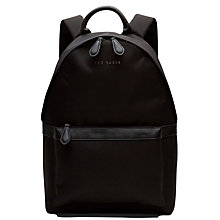 Buy Ted Baker Seata Nylon Backpack, Black Online at johnlewis.com