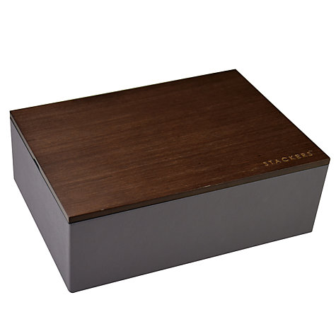 Buy stackers classic charcoal watch box with wooden lid for Stackers jewelry box canada