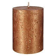 Buy John Lewis Rustic Effect Pillar Candle H10 x Dia.7.5cm Online at johnlewis.com
